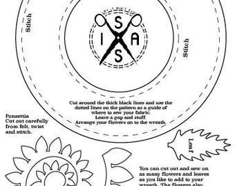 Say It Ain't Sew floral wreath PDF