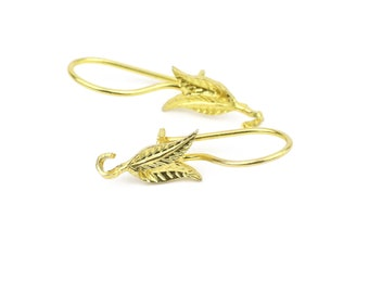 18k Yellow Gold Vermeil Over Sterling Silver Fancy Earring Wires 1 pair