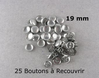 "25 Cover Buttons 3/4"" (Size 30)"