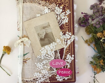 Love and peace- Junk journal