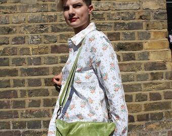Dublin Medium Clip Bag Apple Green Leather