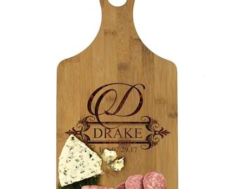 Personalized Cutting Board Wedding Gift, Custom Cheese Board, Bamboo Cutting Board, Wedding Gifts for Couples, Cheese Board Personalized