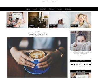 "Wordpress Theme ""Moonrise"" | Responsive Wordpress Design For Fashion & Lifestyle Bloggers"