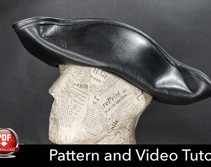 Pirate Hat PATTERN - DIY Pattern - Pirate hat DIY - Pdf Download - Tricorn Hat - Pirate Hat