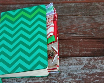 Green Altered Christmas Journal