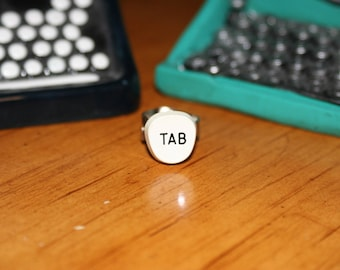 Tab Typewriter Key Ring