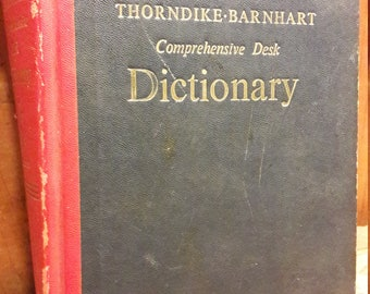 1960s Dictionary - Published by Thorndike and Barnhardt - 1967 - Old Vintage Rare Collectible Dictionaries for Decorating Decoration and Art