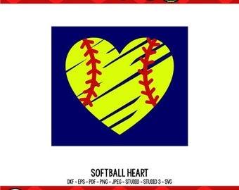 Softball Heart SVG Softball Mom SVG Softball Mom Shirts Softball SVG Cricut Files Silhouette Files Digital Cut Files svg cut files