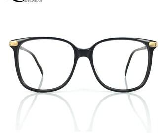 Lurveau® Authentic Vintage Black Oversized Geek Glasses (no lens)
