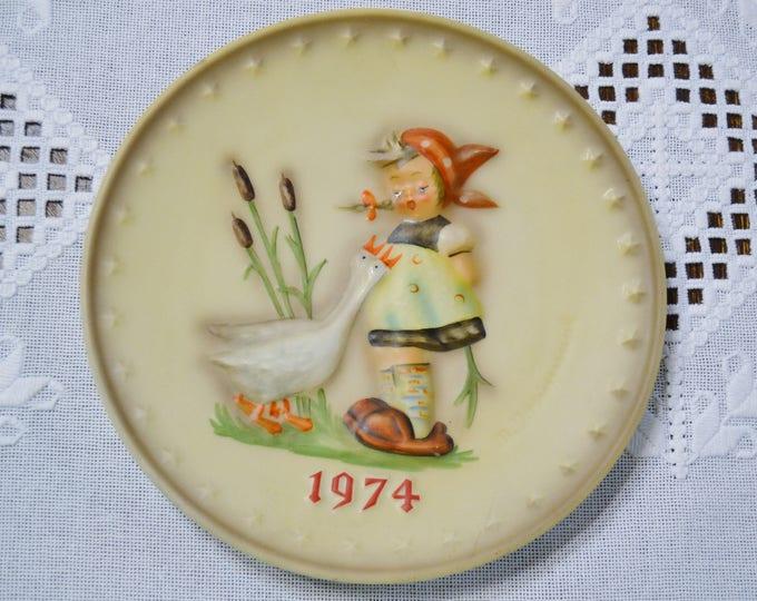 Vintage Hummel Plate 1974 Goose Girl Collector Plate Goebel West Germany PanchosPorch