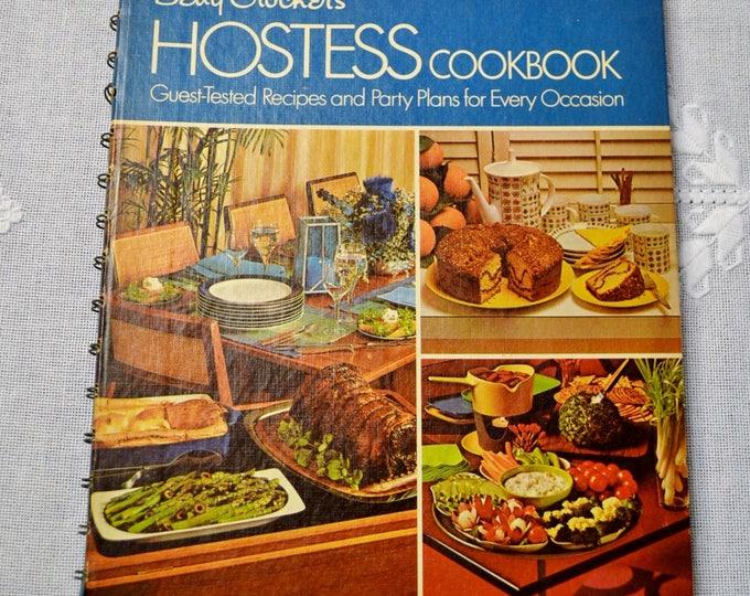 Betty Crockers Hostess Cookbook 1971 Vintage Recipe Cookbook Spiral Bound Hardcover Collectible Kitchen Gift PanchosPorch