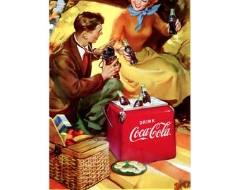 Coca-Cola Take Coke Along Picnic Wall Decal # 158526