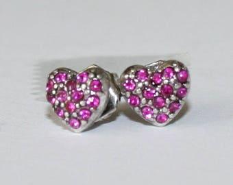 Earrings with heart