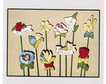 Workshoppe Originals Flower Garden Markers