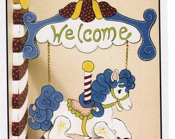 New Vintage Workshoppe Originals Merry-Go Welcome copyright 1994