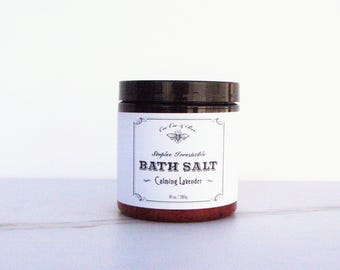 Calming Lavender & Sea Salt - Bath Salt Soak - Gift for her
