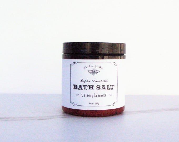 Calming Lavender & Sea Salt - Bath Salt Soak - Gift for her