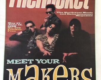 THE ROCKET Seattle 1998 Post Grunge newspaper The Makers Jello Biafra X Richard Meltzer
