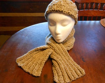 Gray Wool Pass Thru Scarf