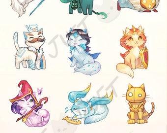 League of Legends Cat Prints