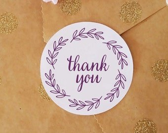 Stickers for Packaging, Round Thank You Stickers, Envelope Seals, Business Stickers, Party Favor Stickers