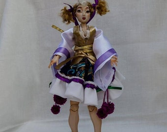BJD Handmade,Polymer Clay Art Doll Ball Jointed Doll 24cm-Japanese Girl