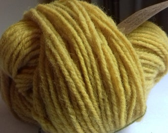 Yellow Brick Road. 50g of naturally hand dyed DK weight yarn