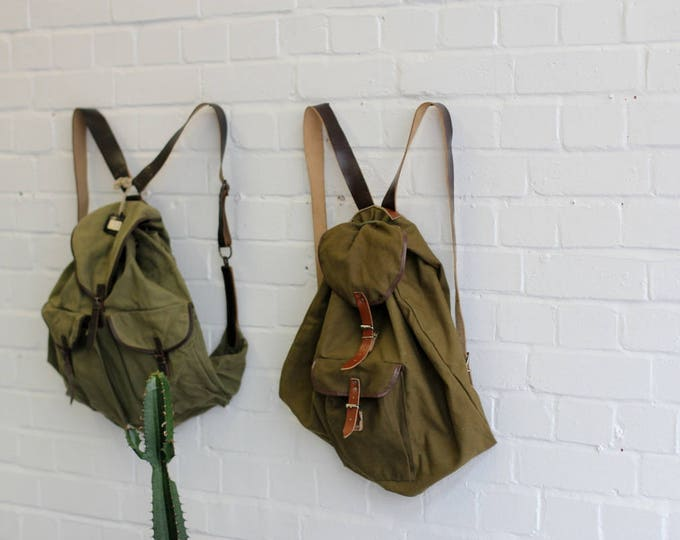German Leather & Canvas Hiking Packs Circa 1960s