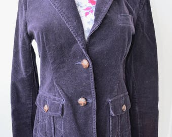 Vintage 90s Deep Purple Corduroy Blazer - Size Medium