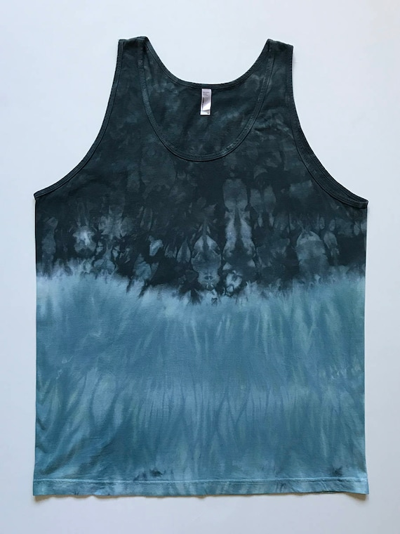 XL Black and Blue Green Arashi Tank Top