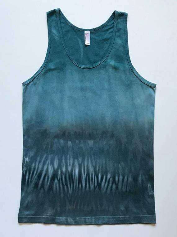 S Blue Green Arashi Tank Top