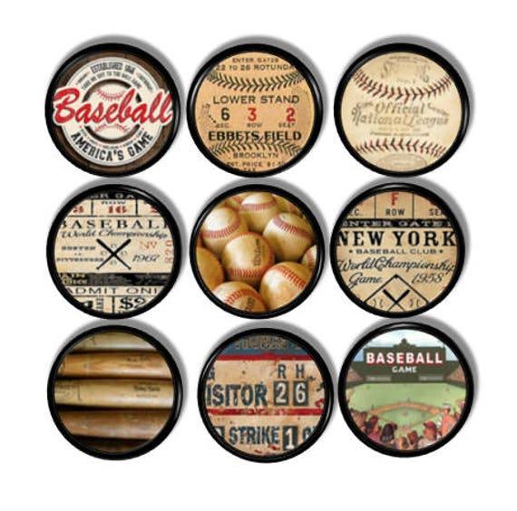 Bouton de meuble vintage de Baseball tiroir Mancave Pull