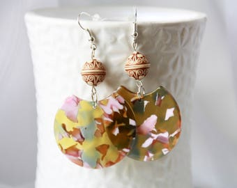 Large earrings, danlge earrings, Ohrringe, Ohrhänger, Gift for girlfriend, every day jewelry, boho chic bohemian jewelry
