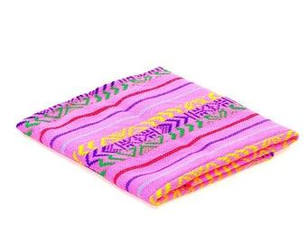 Cinco de Mayo, Tela Mexicana, Pink Fabric by the Yard, Mexican embroidered, Fiesta decoration, Dia de los muertos decor, FAB302