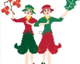 Crosstitch - Christmas Fairies Dance