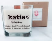 NEW Maid of Honor Soy Candle~Personalized Bridesmaid Gift~ Maid of Honor Gift~Personalized Name Candle~Wedding Candles~Bridesmaid Proposal