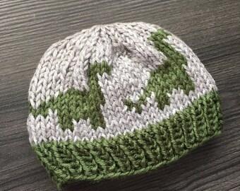 Dinosaur Baby Hat - Baby Boy Hat - 6-12 Month Hat -  Baby Boy Beanie - Knitted Baby Hat - Baby Accessories - Dino Hat