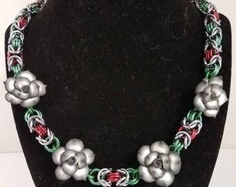 Byzantine  and Rose Necklace