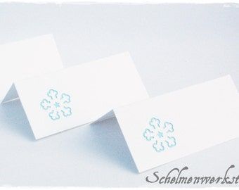 Table cards with snowflake Christmas (6 PCs)