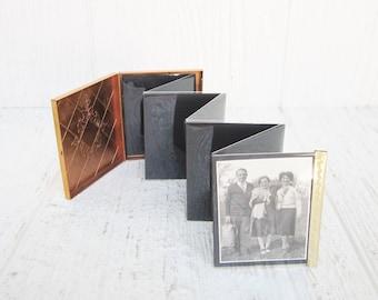Vintage Pocket Photo Holder, Pocket Picture Album, Mini Compact Photo Album Case