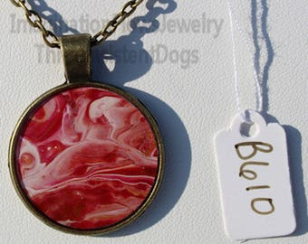 Handmade Jewelry, Acrylic Flow, Inexpensive,  Each Necklace Unique