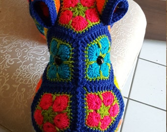 Happy Hippopotamus - Handmade Crochet Hippo. Stuffed Animal, Great for baby, toddler, child or adult. Loveable Plush.