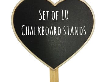 10 piece Chalkboard black board  mini Stands