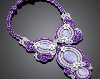 Soutache necklace Vilayna
