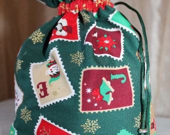 Link pattern Christmas bag pouch for small gifts