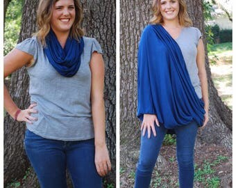 Navy Blue Nursing Scarf