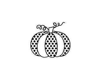 "Small Pumpkin Stamp, card stamp, gift tags stamp, label stamp, thanksgiving, Halloween stamp, festive stamp, pumpkin, 0.75"" x 0.7"" (minis79)"