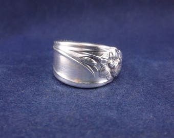 """FREE SHIPPING-Spoon Ring 1950  """"Daffodil"""" Handmade Spoon Jewelry Size 6.5"""