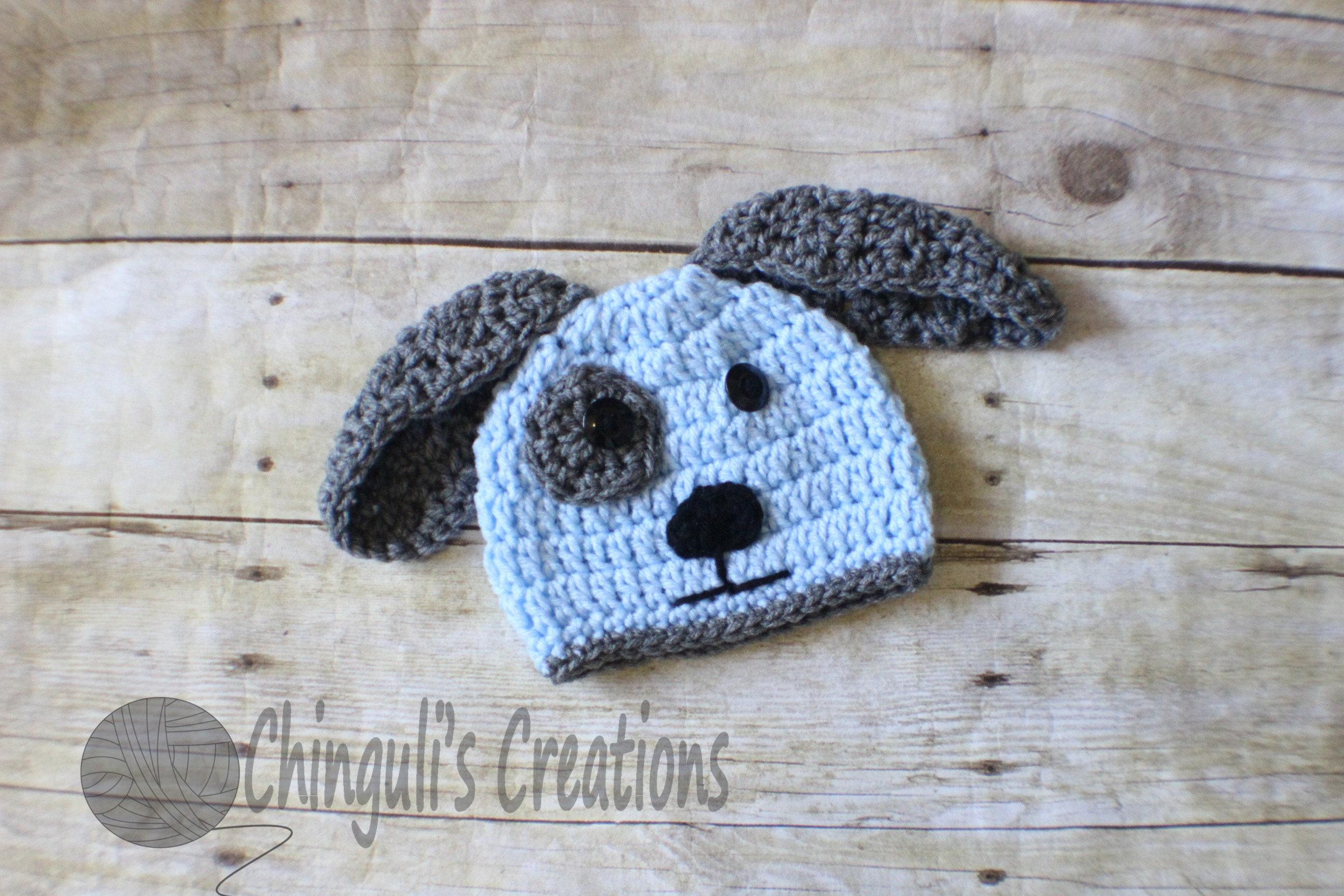 Crochet puppy baby hat newborn puppy beanie crochet doggy hat zoom bankloansurffo Gallery