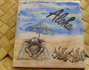 Aloha Mouse on Ceramic Tle